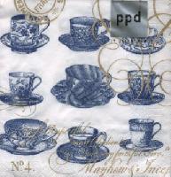 Teacups Monaco, 25 x 25cm   (64b)