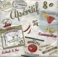 Vintage Appetizer, 25 x 25cm   (39b)
