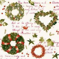 Christmas Poetry, 25 x 25cm   (38b)