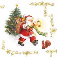 Walking Santa, 25 x 25cm   (37b)