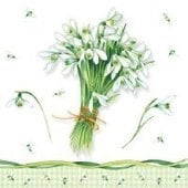 Bunch of Snowdrops 25x25   (24b)