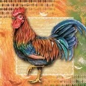 Rooster 33 x 33cm   (3a)