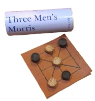 <!-- 003 -->Three Men's Morris - Leather Board