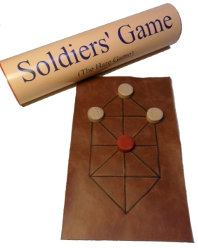 Hare Game or Soldiers' Game - leather board