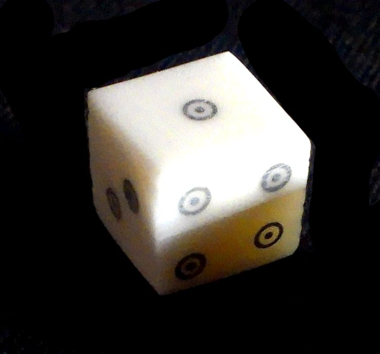 <!-- 001 -->Bone dice - ring-and-dot