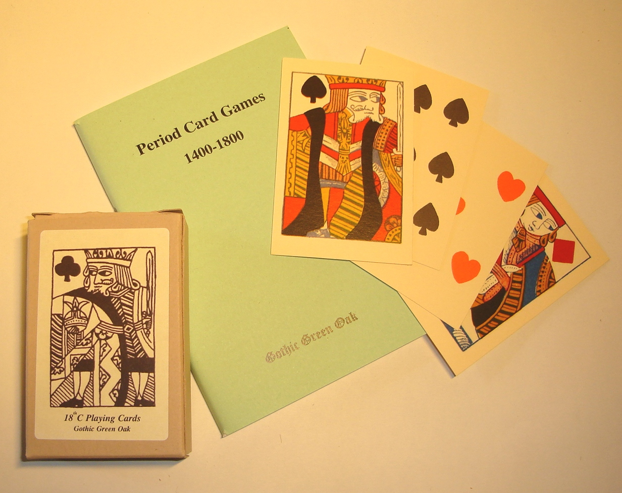 Seventeenth-nineteenth century playing cards, with historic card games rule book