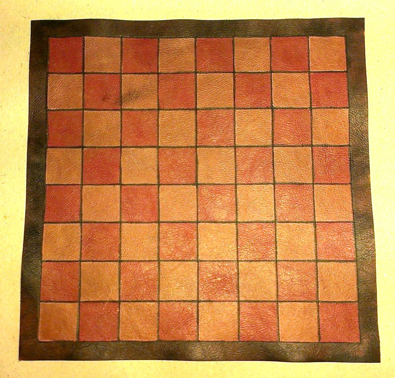 Small leather chess/draughts board