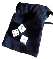 <!-- 006 -->The Game of Hazard - set with three solid-pip bone dice