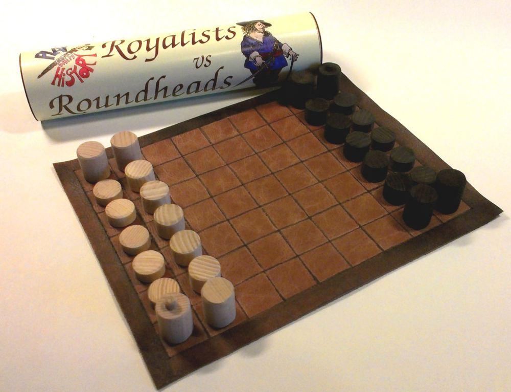 Royalists vs Roundheads abstract strategy board game handmade with leather