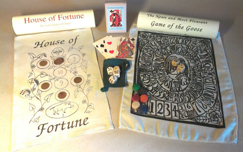 Tudor Games Collection (with Wood Dice)