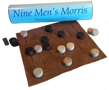 Nine Men's Morris - Leather Board