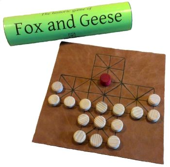 Fox and Geese - leather Board