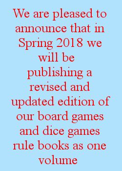 New Board and Dice Games Rule Book coming soon announcement