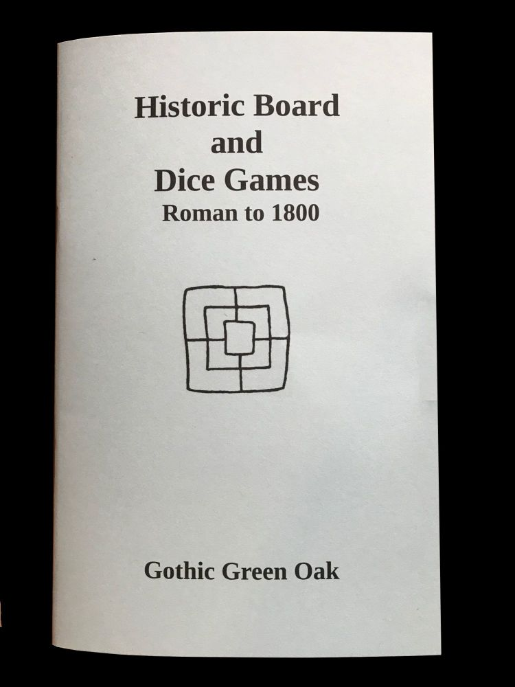 Cover image of book Historic Board and Dice Games - Roman to 1800