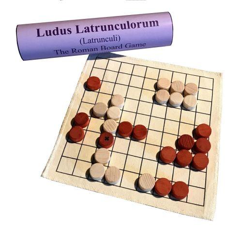 <!-- 002 -->Ludus Latrunculorum, or Latrunculi - Linen Board