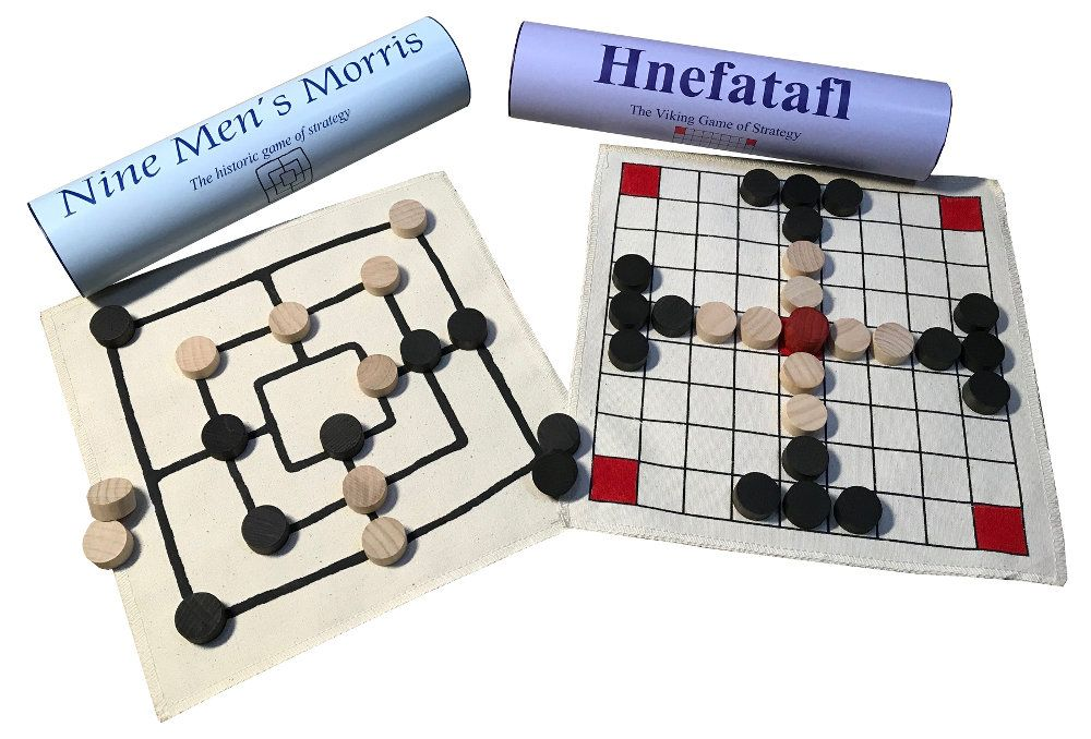 Viking Board Games - Hnefatafl and Nine Men's Morris