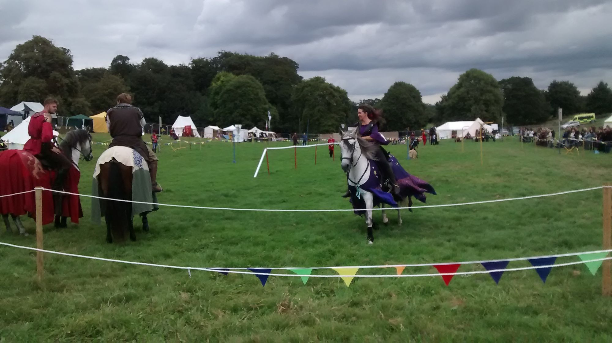 The joust in action