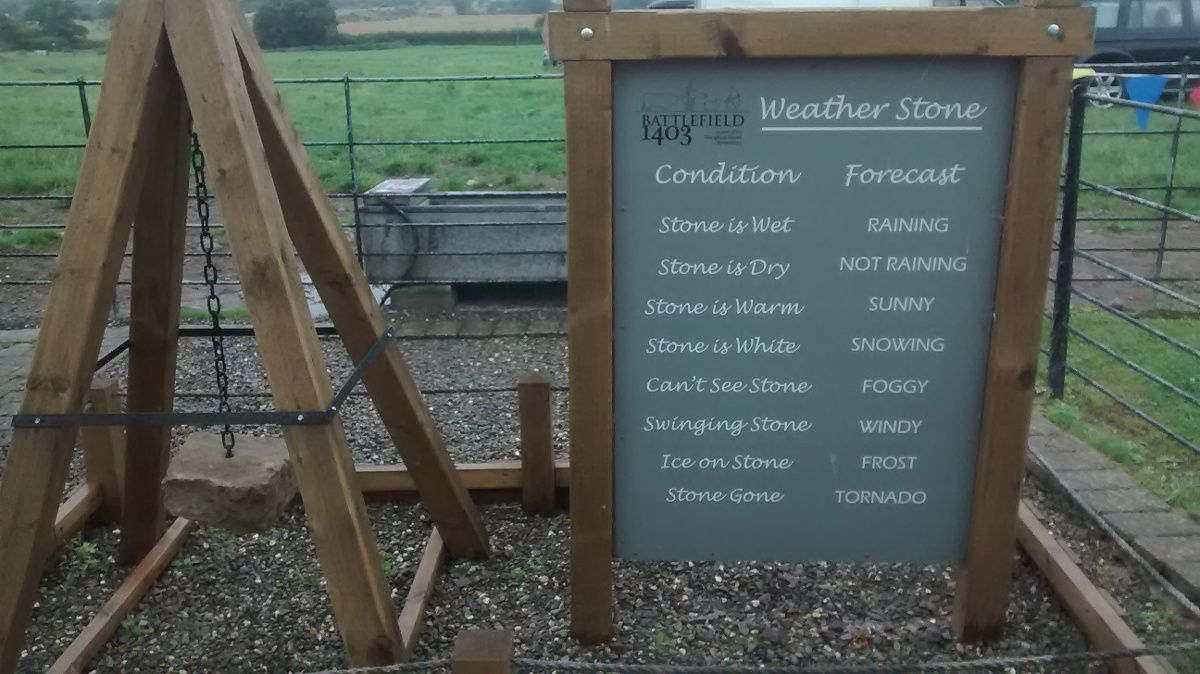 The Weather Stone was mostly wet throughout the weekend...(Met Office take note...)