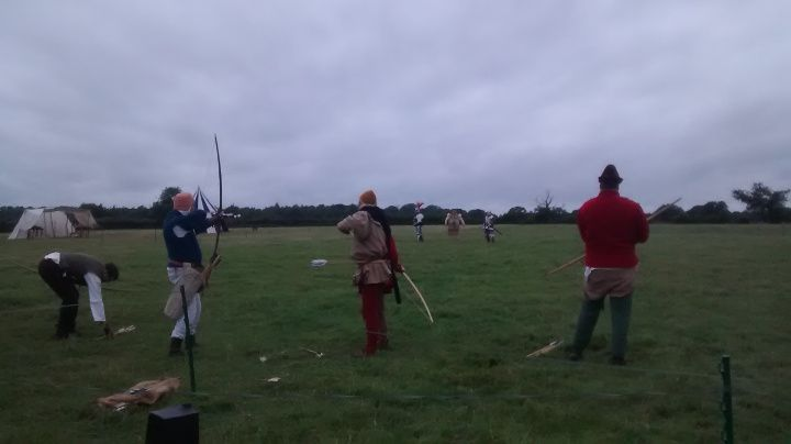 Archery practice before the Battle...