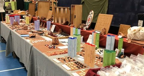 View of the Historic Games Shop stall at TORM