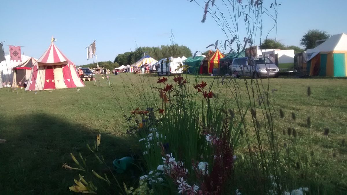 A small section of the festival site on the Friday afternoon; beer tent in the distance...