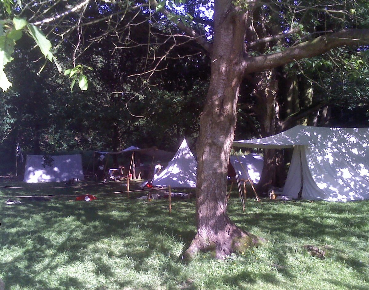 Another living history encampment behind The Historic Games Shop taken in 2018