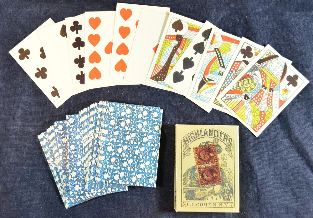 Reproduction Highlanders American Civil War playing cards, by L.I. Cohen