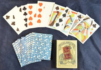 Highlanders 1864 American Civil War period card deck