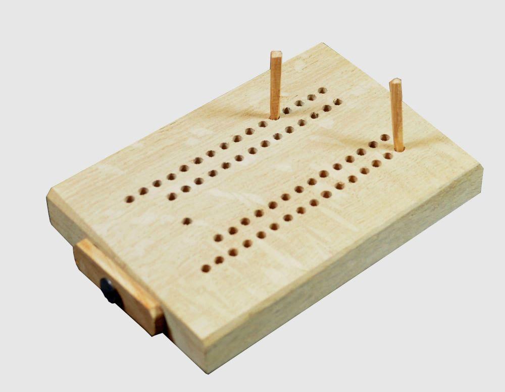 Oak noddy board with yew wood pegs
