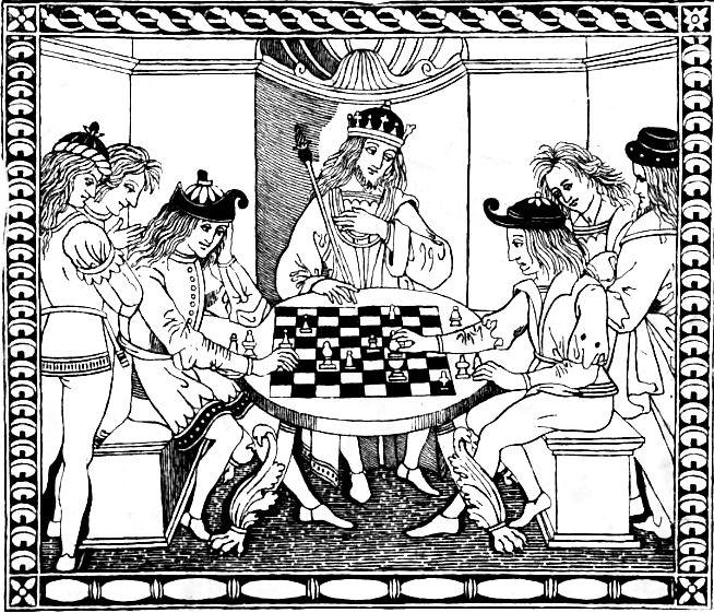 Chess game from Cessolis's Liber de moribus hominum et officiis nobilium super ludo scacchorum