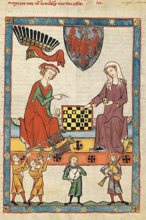 Margrave Otto IV of Brandenburg, depicted in the Codex Manesse, 1300