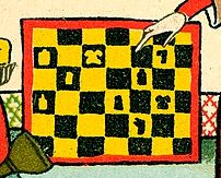 Margrave of Brandenburg chessboard, detail