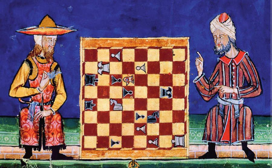 Chess players from the Alfonso manuscript