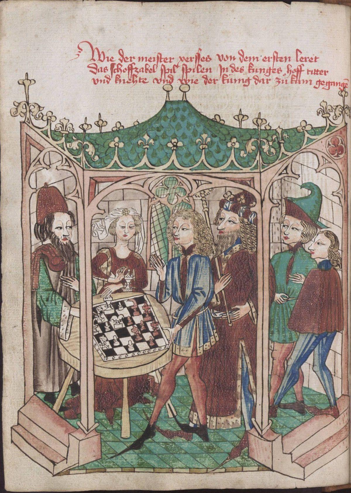 Konrad von Ammenhausen's Schachzabelbuch chess game