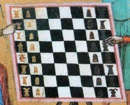 Solacium ludi scaccorum chess board detail