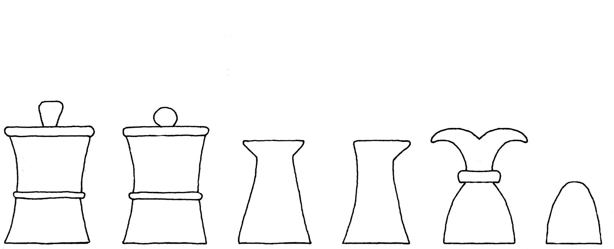 Solacium ludi scaccorum chess set interpretive diagram