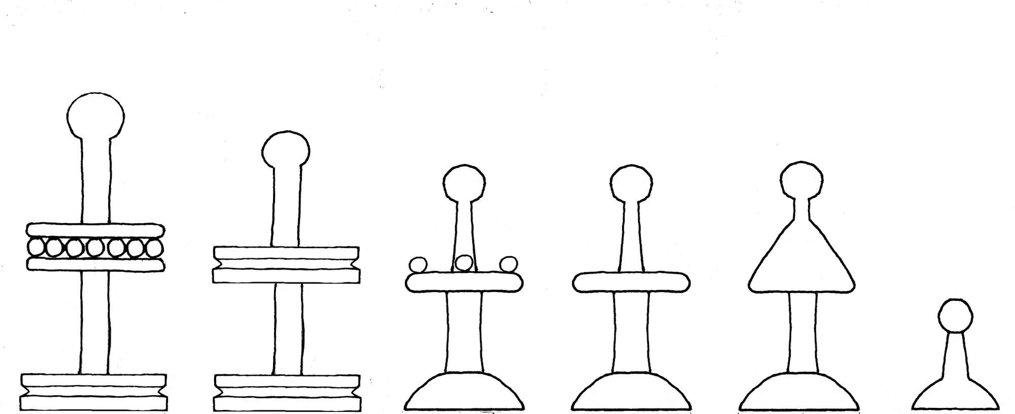 Regnault de Montauban chess set interpretive diagram