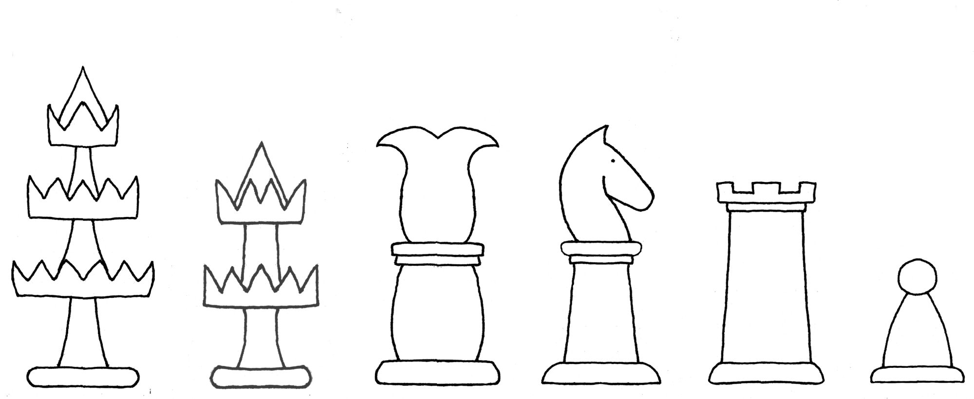 Interpretive diagram of seventeenth century Selenus chess set