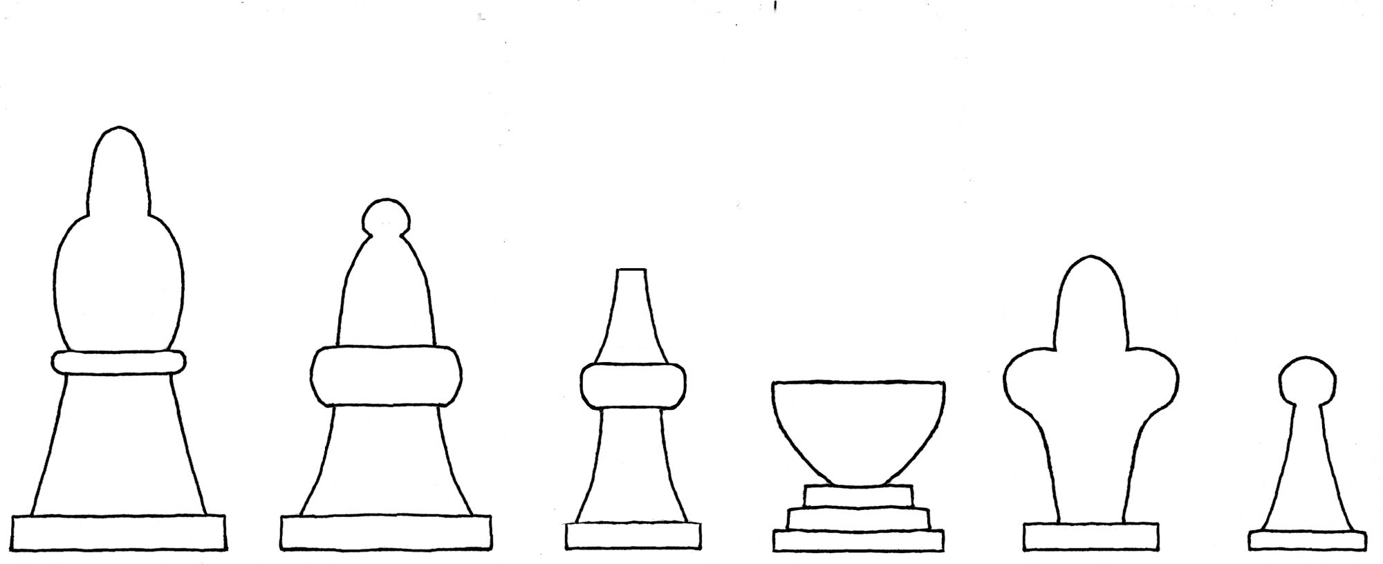 Interpretive diagram of fifteenth century Cessolis chess set