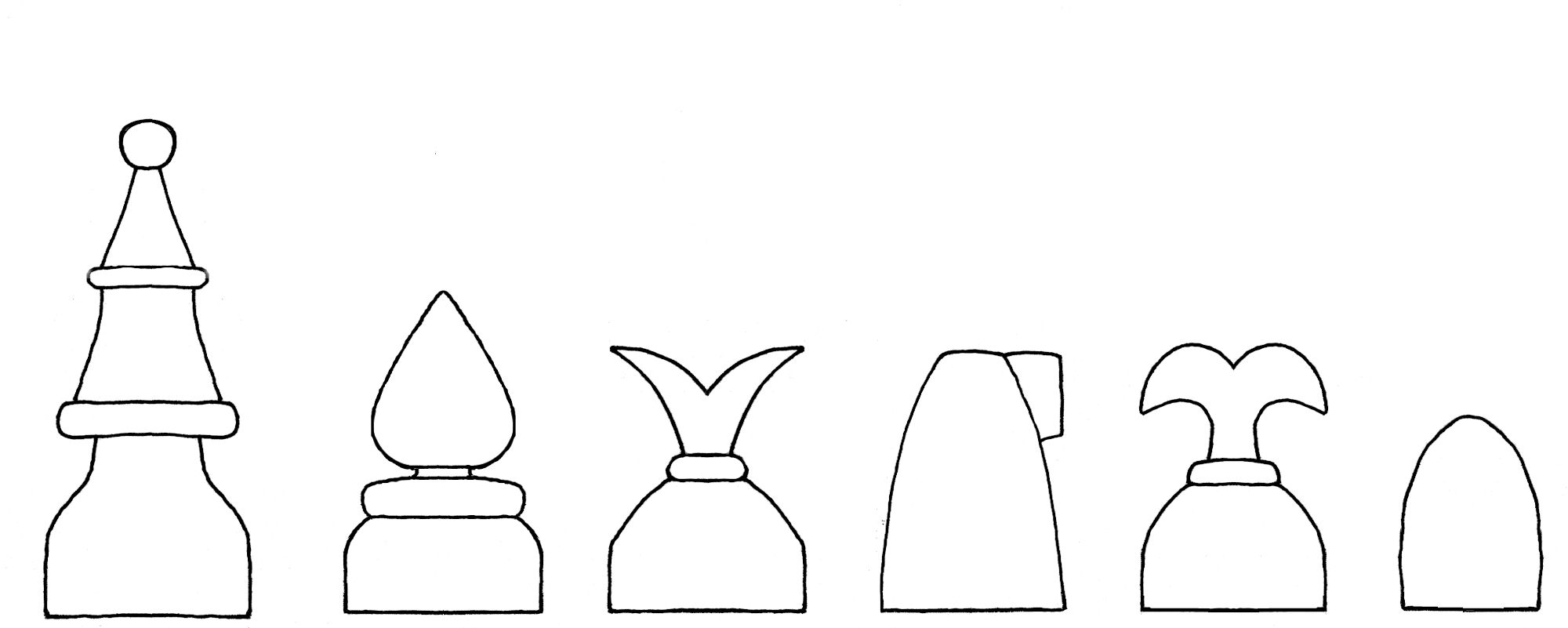 Caxton chess set interpretive diagram
