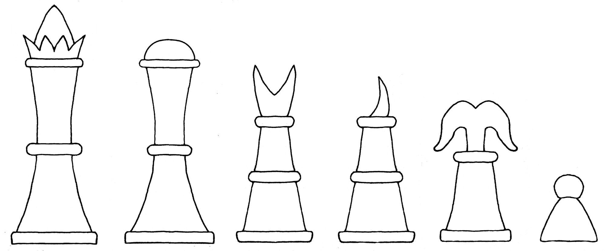 Interpretive diagram of the Publicius chess set