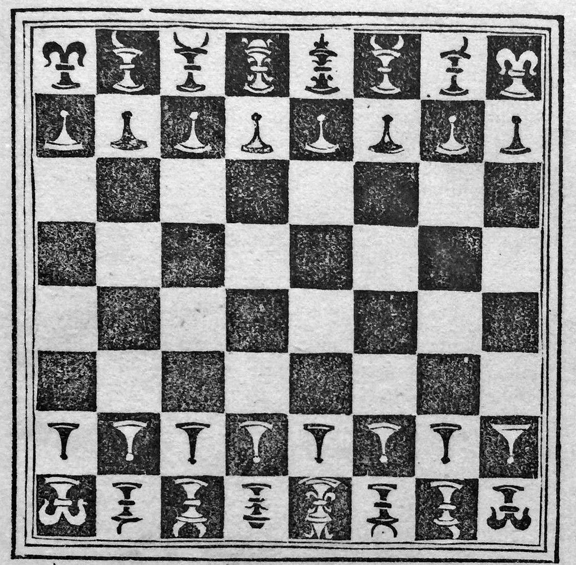 Detail of Publicius's chess set