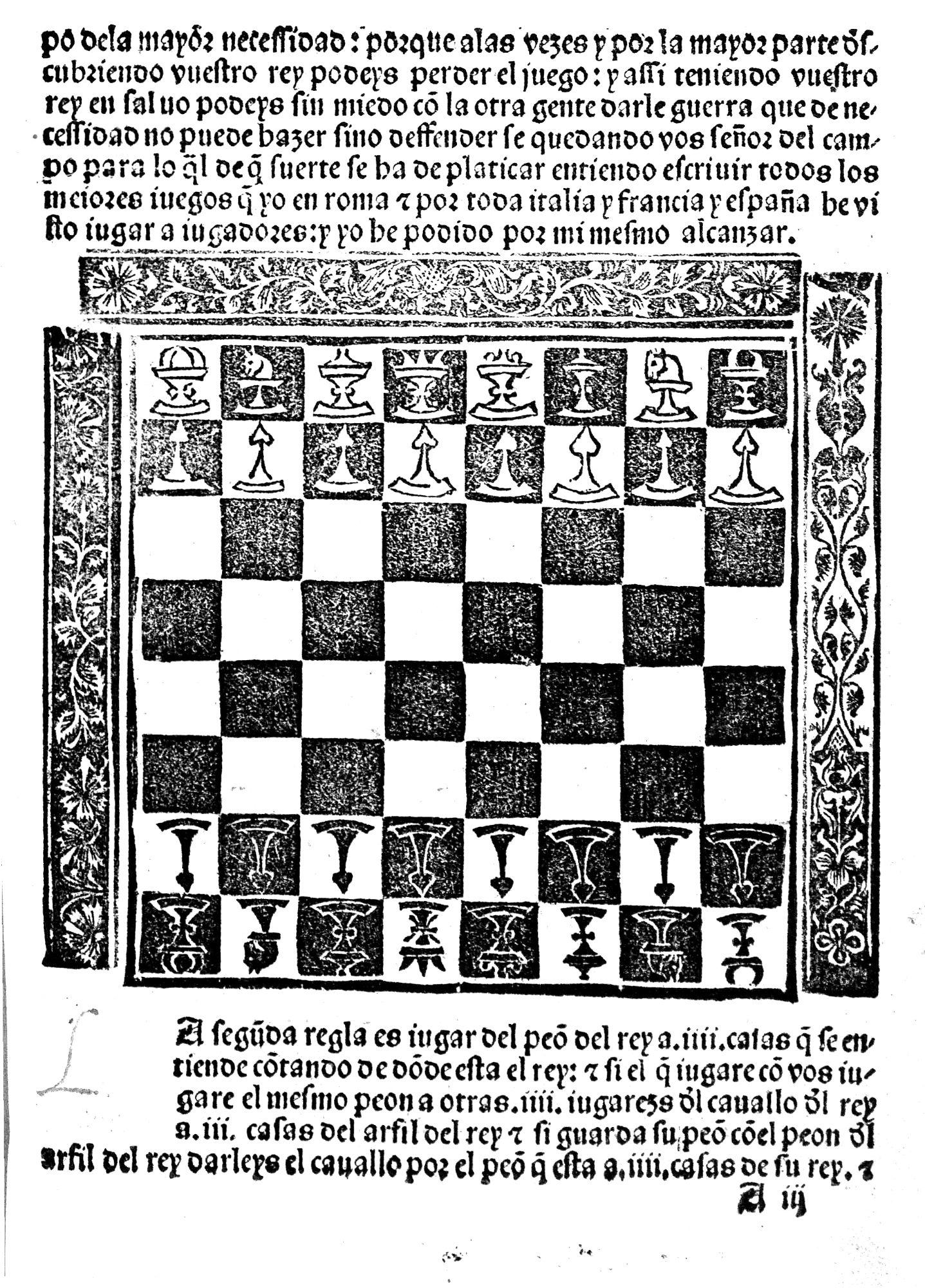 The chess set of Luis Ramerez de Lucena