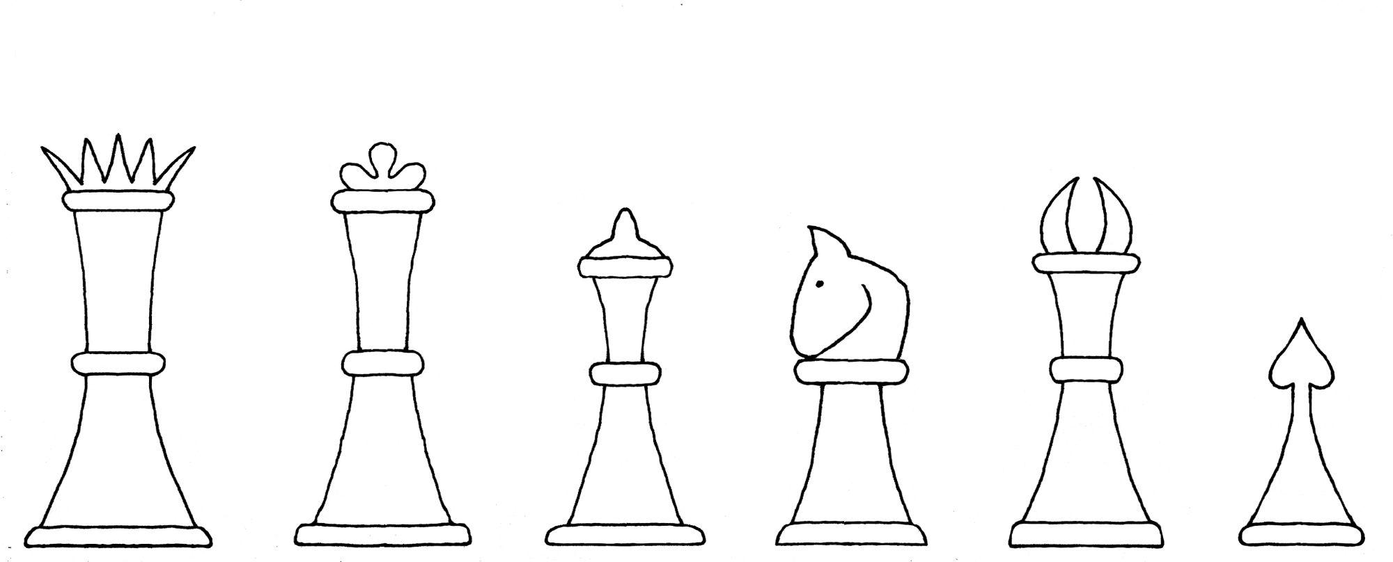 Lucena chess set interpretive diagram