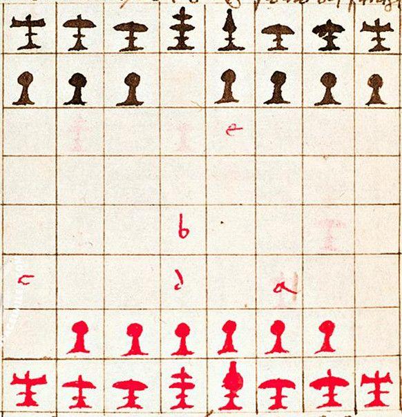 Pacioli chess set, detail
