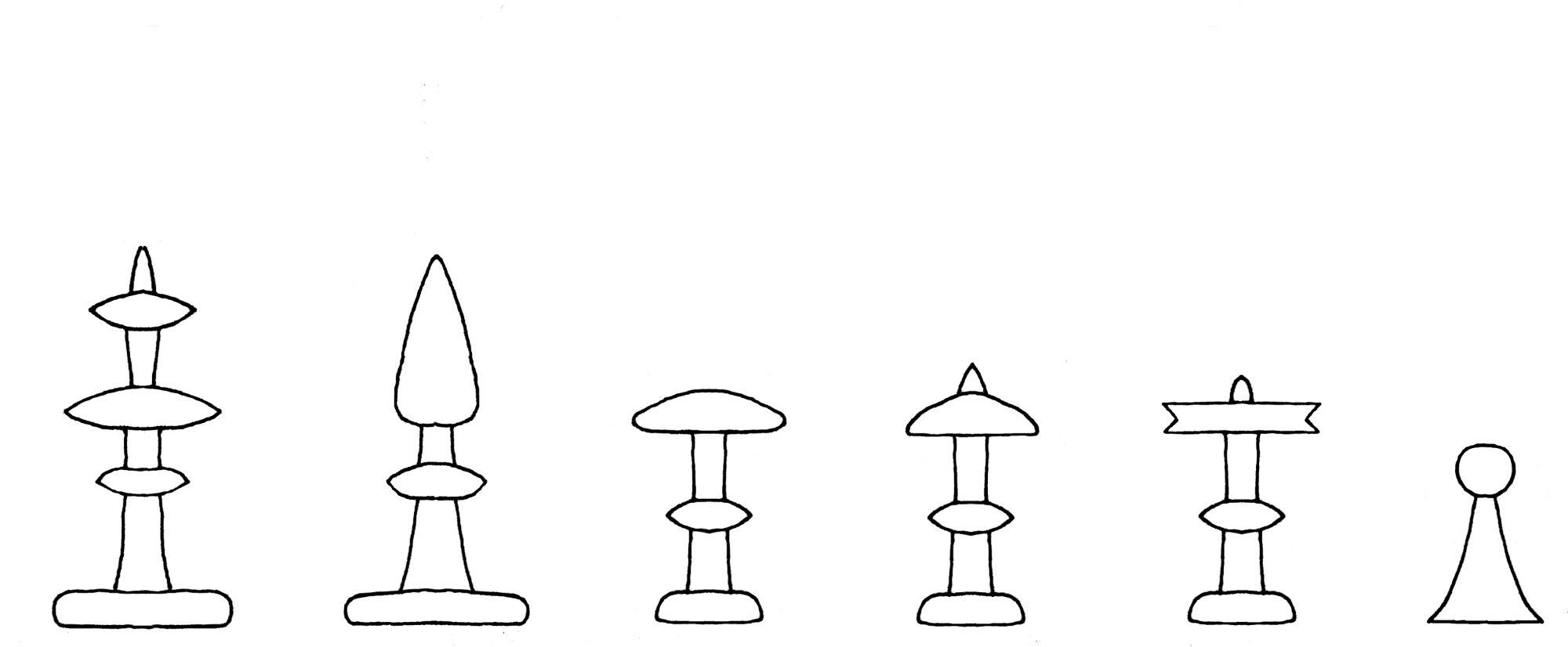 Pacioli chess set interpretive diagram