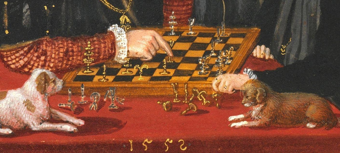 Albrecht and Anna chess set, detail