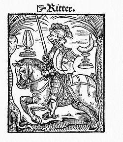 The knight from the Kobel edition of Mendel's Schachzabel