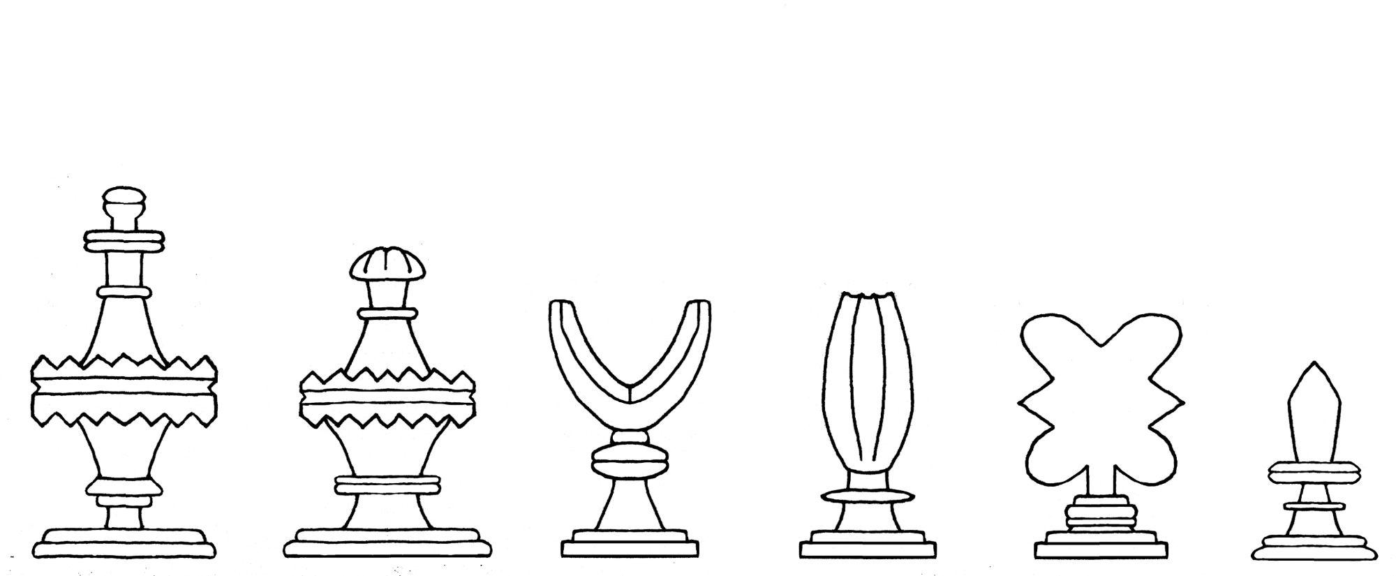 Kobel chess set number 1 interpretive diagram