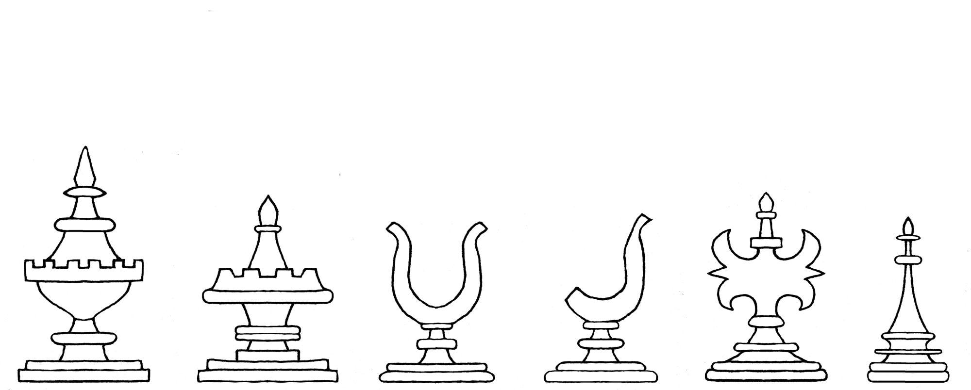 Kobel chess set number 2 interpretive diagram